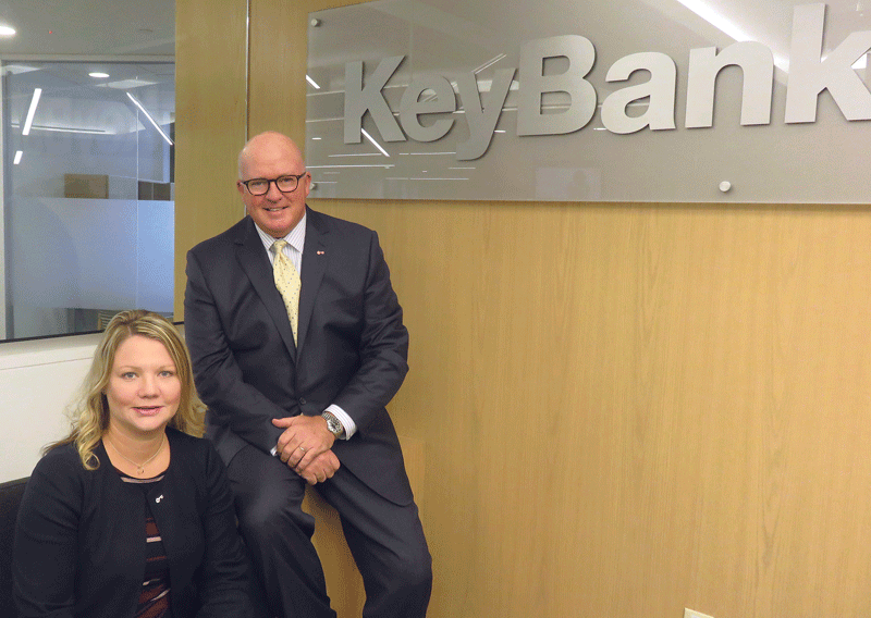 KeyBank's Courtney Jinjika and Jeff Hubbard