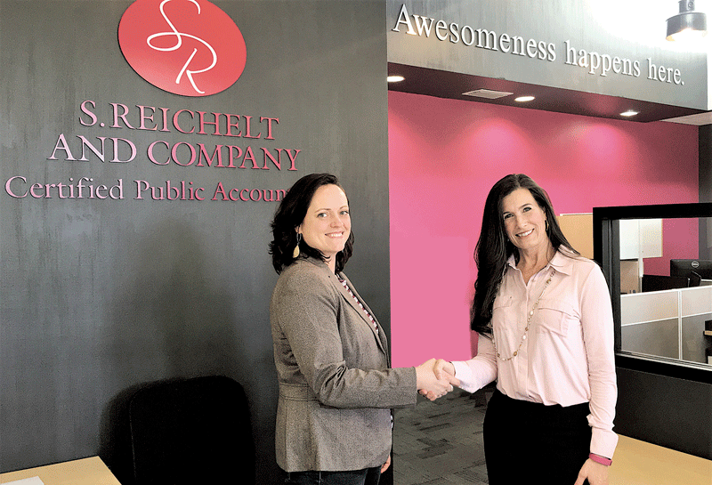 Tracey Gaylord of Granite State Development Corp. (right) with Shannon Reichelt, who used Granite State's services to finance a new property for her company, S. Reichelt & Co.