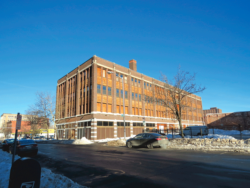 The Willys-Overland building on Chestnut Street