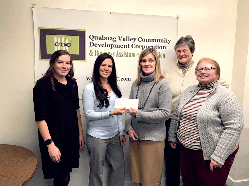 Country Bank recently announced a $50,000 donation to the Quaboag Valley Community Development Corp