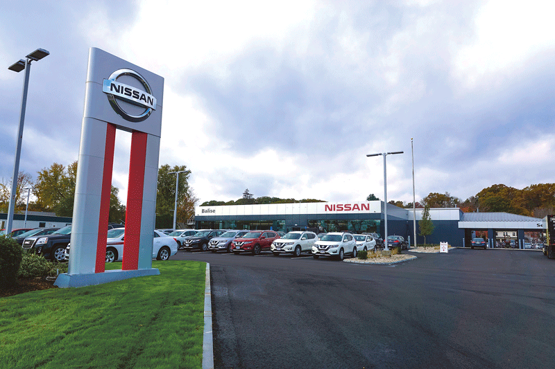 The Nissan dealership on Riverdale Street now carries the Balise name. It's the latest of the company's dealerships to undergo extensive renovations or new construction.