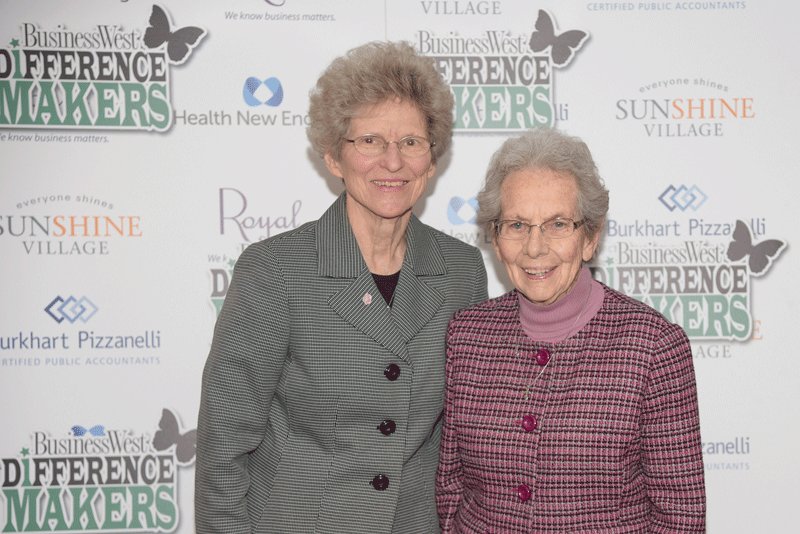 Sr. Kathleen Popko (left) and Sr. Mary Caritas from the Sisters of Providence, a 2013 Difference Maker.