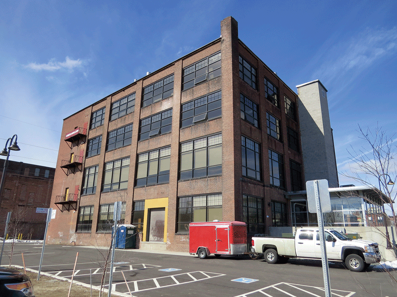 The Cubit building, home to apartments and the Holyoke Community College MGM Culinary Arts Institute, is just one example of how Holyoke's historic mills are being put to new and productive uses.