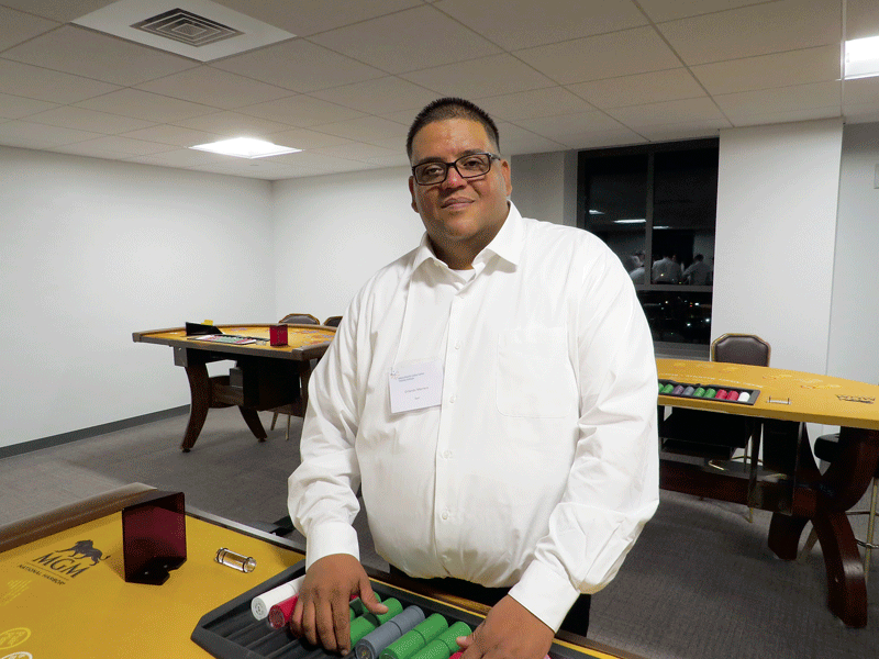 Orlando Marrero is an experienced dealer who enrolled at MCCTI to refresh his skills and learn more games.