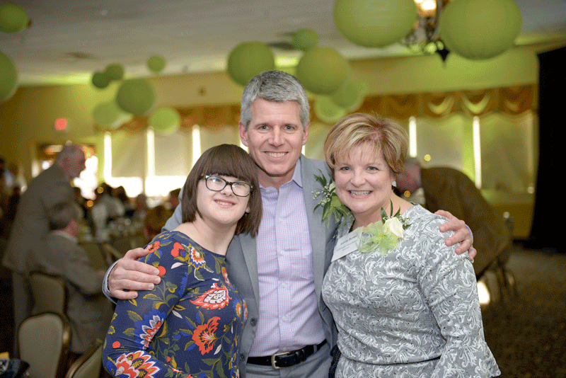 From 2018 Difference Maker the WillPower Foundation, from left: Sabrina Aasheim, Jeff Palm, and Maria Burke.