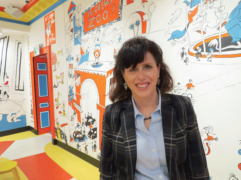Kay Simpson says the Seuss museum has fueled a surge in attendance