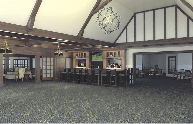renovated clubhouse at LCC