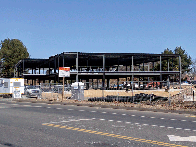 The Baystate Health & Wellness Center will open on Dwight Street, at the East Longmeadow line, this summer.