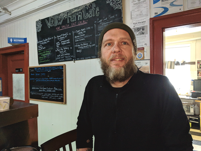 Matt Buzzell has seen Valley Farm Café become a hub of sorts