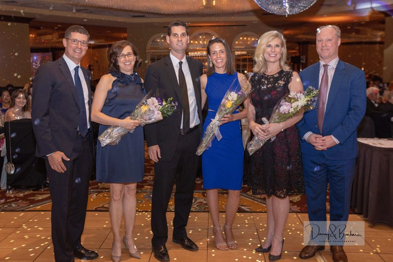 Gala Honorary Chairs: (from left to right) Steven and Alissa Korn; Drew and Lauren Davis; and Carrie '86 and Tim Burr.
