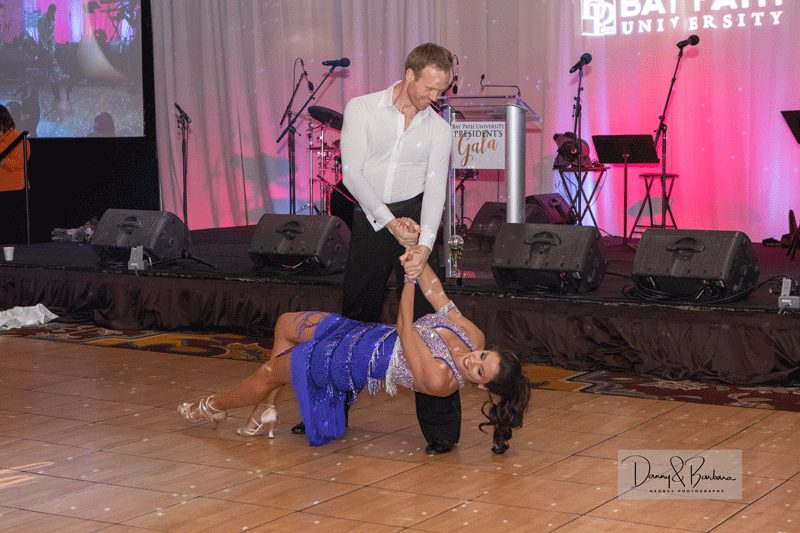 Patricia Faginski, vice president and financial advisor at St. Germain Investment Management danced with Gunnar Sverrisson of Ballroom Fever in Enfield, CT.