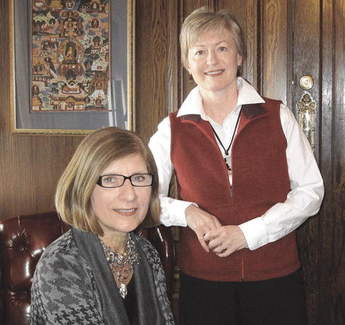 Carol Leary, left, and Caron Hobin