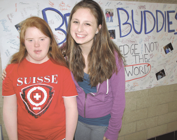 Theresa Ruszczyk (right) and her buddy, Lucy Pasche