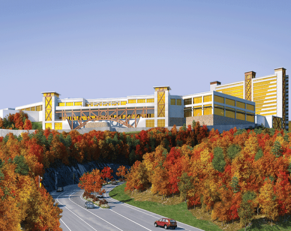 An architect's rendering of Mohegan Sun Massachusetts.