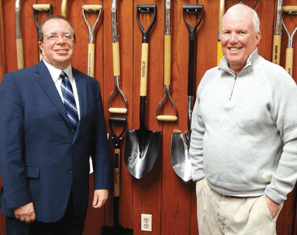 Mayor Mike Bissonnette (left) and Tom Haberlin