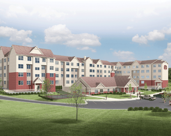 Marriott Courtyard that will anchor Chicopee Crossing