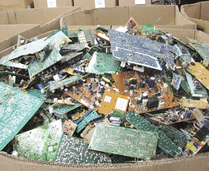 This bin of circuit boards