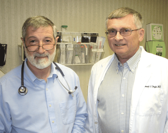 Drs. David Doyle, left, and Ira Helfand say the Family Care Medical Center