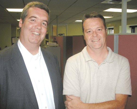 Dave Sweeney, left, and Marty Langford say they help companies get the big picture.
