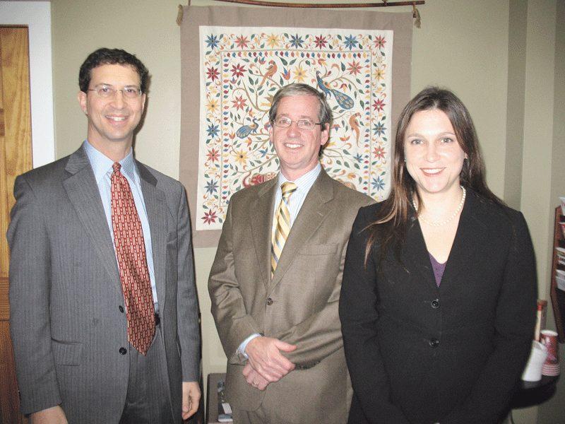 From left: Daniel Berger, Joseph Curran, and Megan Kludt