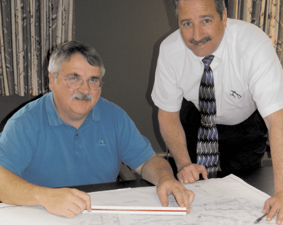 Michael Schafer, left, and Senior Engineer Gregory Henson