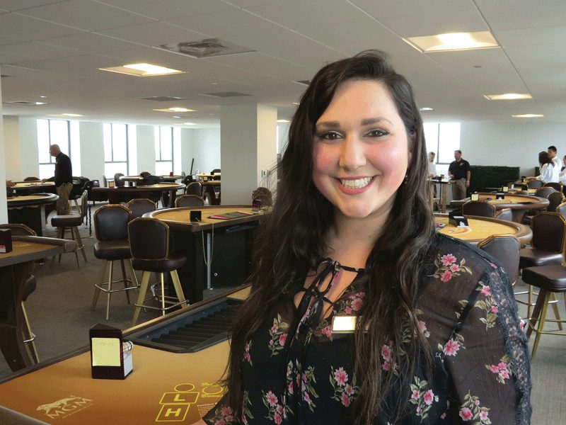 Amanda Gagnon may have lost the battle for Ward 6 in the casino referendum fight, but she's won not only a job but what has the makings of a career in the gaming industry.