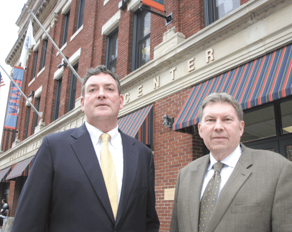 Mike Crowley, left, and Bob Schwarz