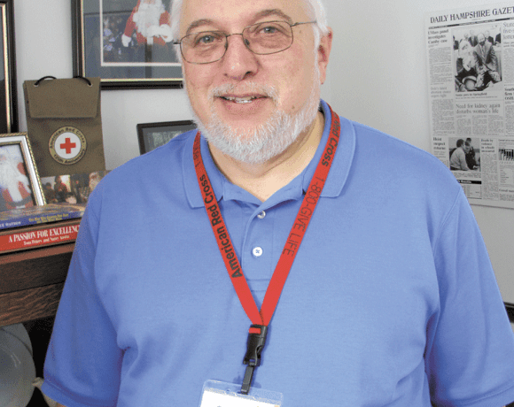 Rick Lee, director of the Pioneer Valley chapter of American Red Cross