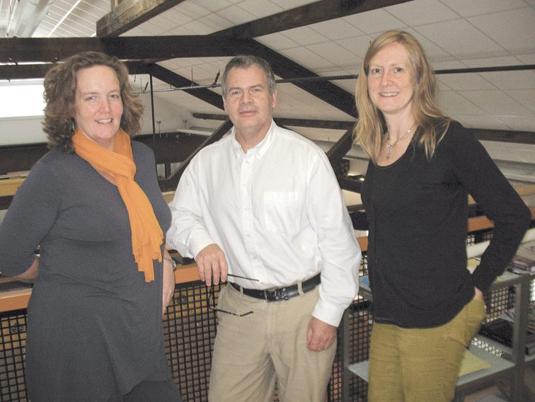 From left, Aelan Tierney, Charles Roberts, and Ann Wills Marshall