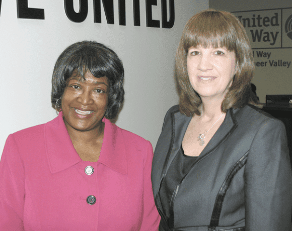 Dora Robinson, left, and Kathy Dube