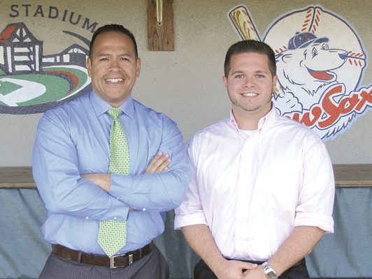 Adam Perri, pictured with Cookie Rojas.