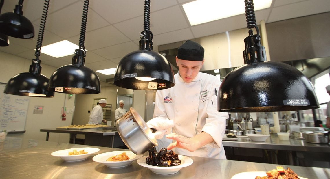 Culinary Arts lab tech and HCC alumnus Tyler Carrier