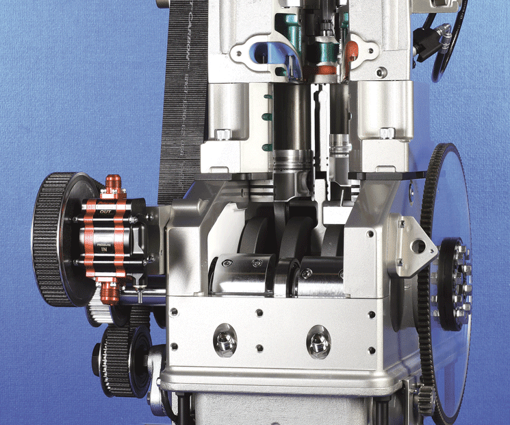A prototype of the Scuderi split-cycle engine.