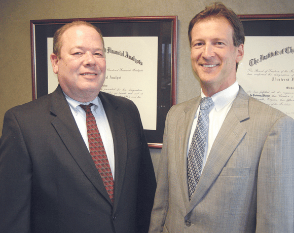 Paul Valickus (left), with St. Germain Investment Management President Michael Matty