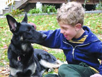 Adam Byczko has a best friend in Kita the German shepherd