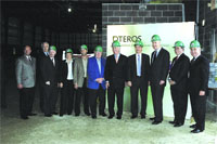 Attendees at the groundbreaking ceremonies for Qteros's plant in Chicopee hailed it as much more than a match of a tenant with available space.