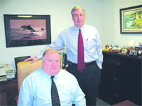 Bruce MacDonald (left) and Mark Shea