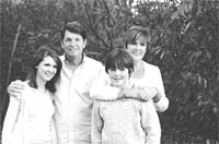 Marty Dunn with his daughter, Kellis; his son, Ryan; and his wife, Anne Marie.