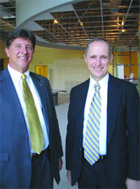 Nuvo Bank President Jeff Sattler, left, and Chairman and CEO Jim Gardner.