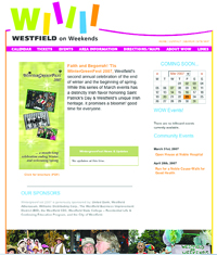 The eye-catching logo used by Westfield on Weekends helps to draw in new supporters and volunteers.