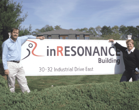 inResonance President and CEO Kevin McAllister and Vice President of Global Sales Marlene Marrocco