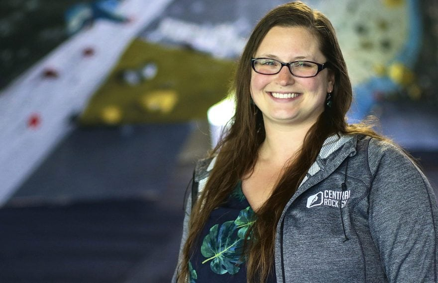Hana Skirkey says rock climbers are drawn to the sport