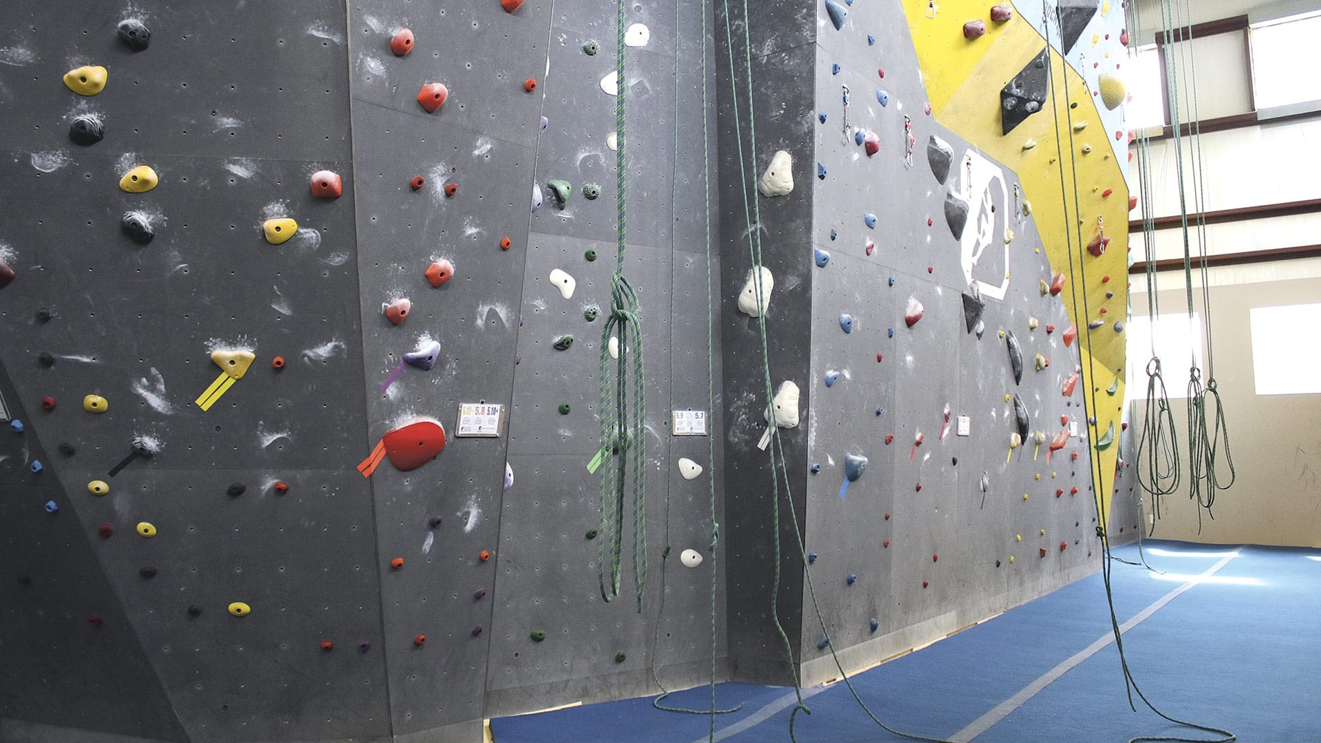 A renovation completed last year added 8,000 square feet of climbing surface