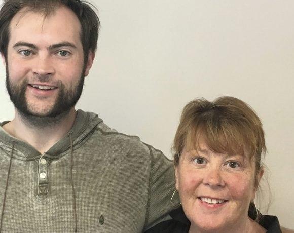 Pat Callahan and his aunt, Jan