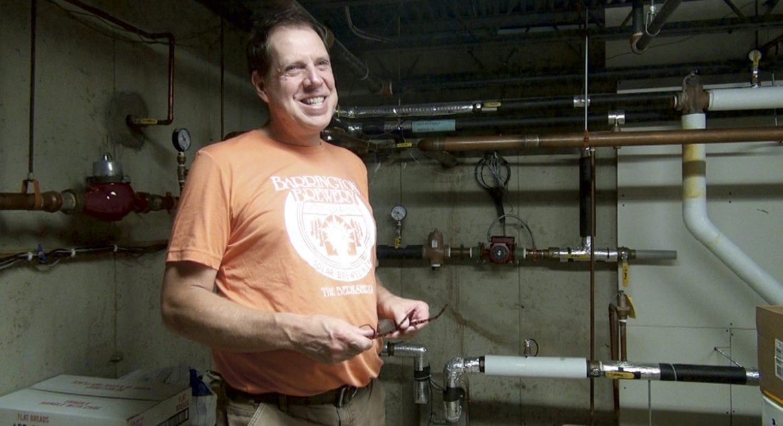 Andrew Mankin (pictured) and Gary Happ recently had a solar hot-water system installed