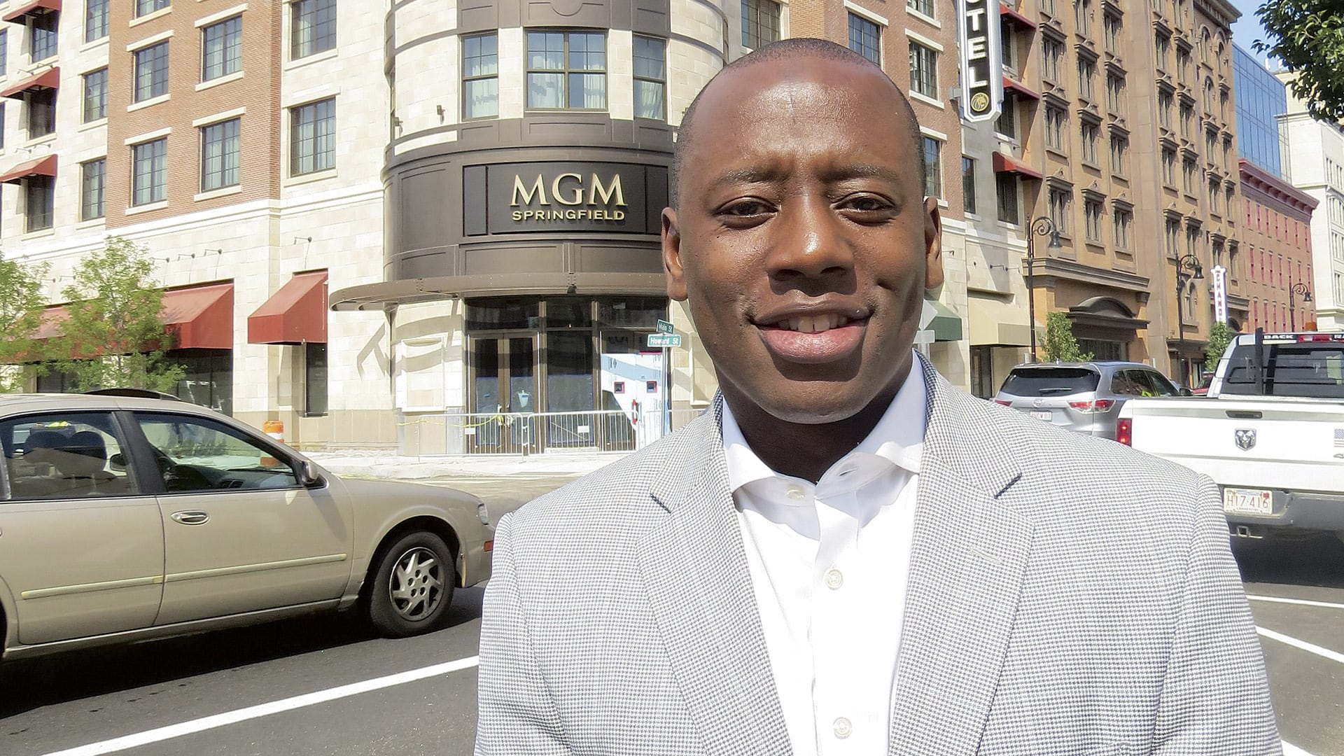 Alex Dixon was named general manager of MGM Springfield in the spring of 2017.