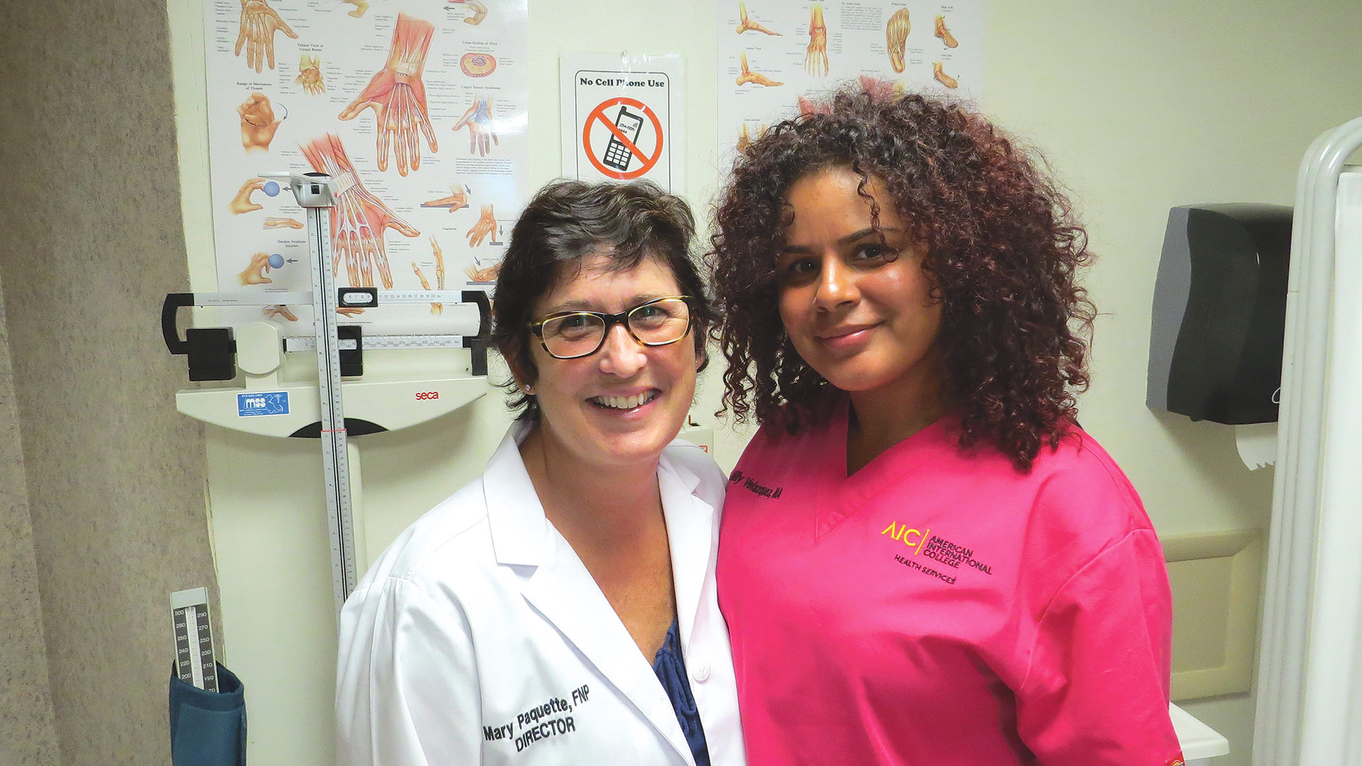 Mary Paquette and Millie Valazquez, office manager and medical assistant at the Dexter Center