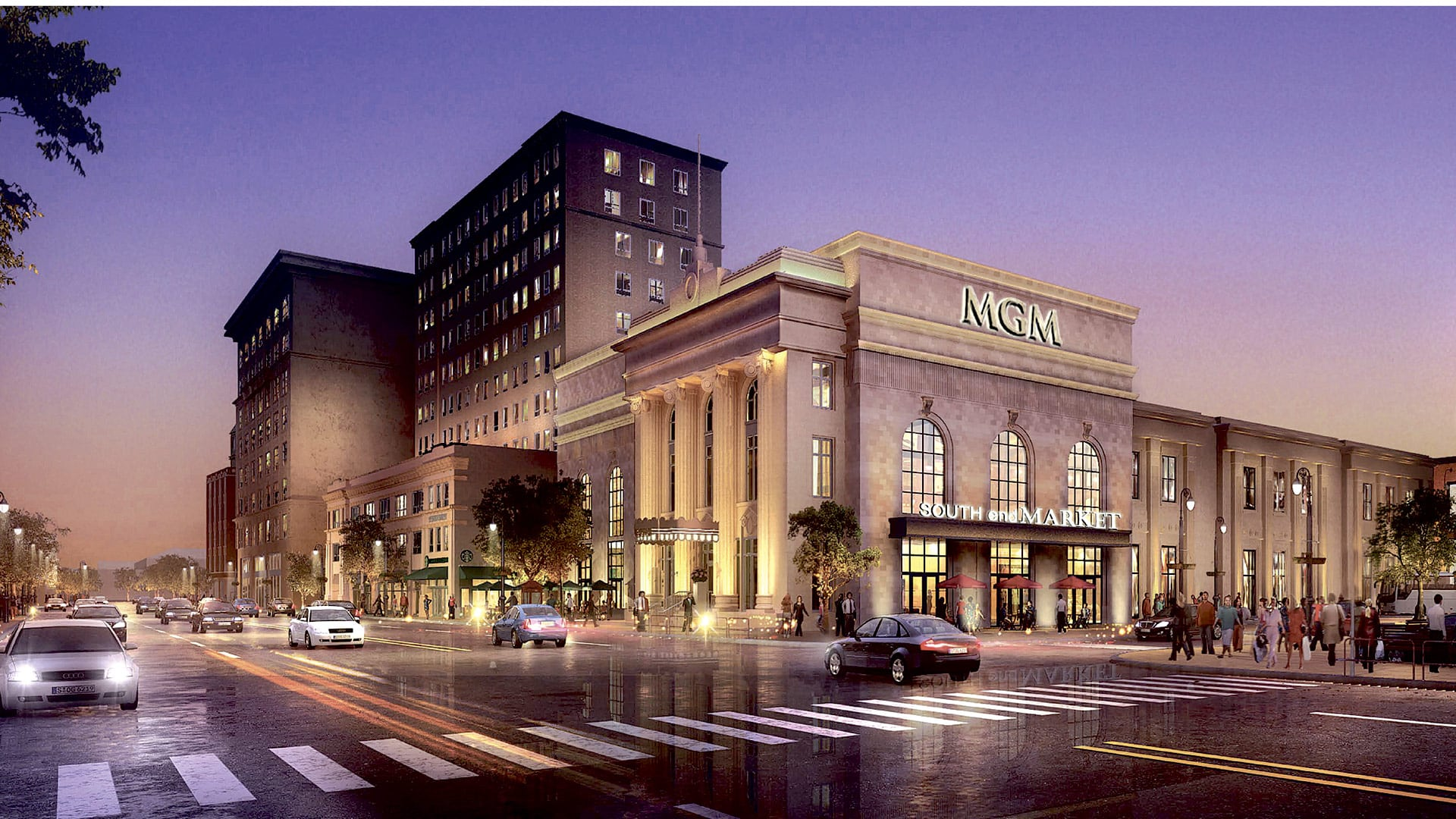 This rendering shows the revised design of MGM Springfield
