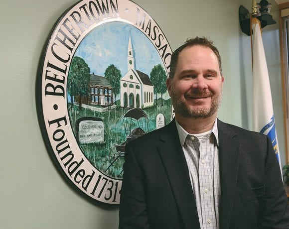 "Nicholas O'Connor says recent projects have created considerable momentum in Belchertown, ""like a snowball rolling down a hill."""