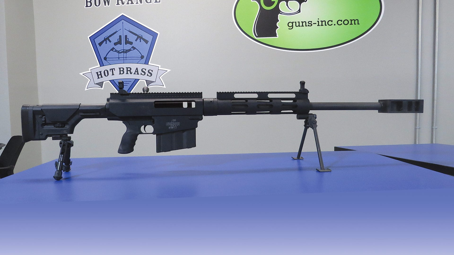The .50 caliber sniper rifle is a popular attraction at Hot Brass, drawing shooters of all ages.